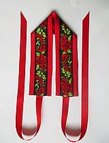"Opasky - červeno-čierny set ""ona a on"": opasok + kravata - 10390806_"