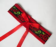 "Opasky - červeno-čierny set ""ona a on"": opasok + kravata - 10390807_"