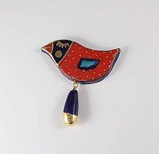 Odznaky/Brošne - Tana šperky - keramika/zlato - 10390118_