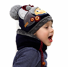 Detské čiapky - Hrejivý set - 10391860_