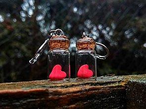 Náušnice - Valentínky - 10390790_