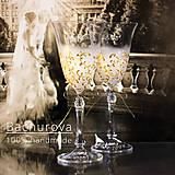Nádoby - Svadobné poháre (bez pieskovanie textov) - 10390715_