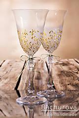 Nádoby - Svadobné poháre (bez pieskovanie textov) - 10390721_