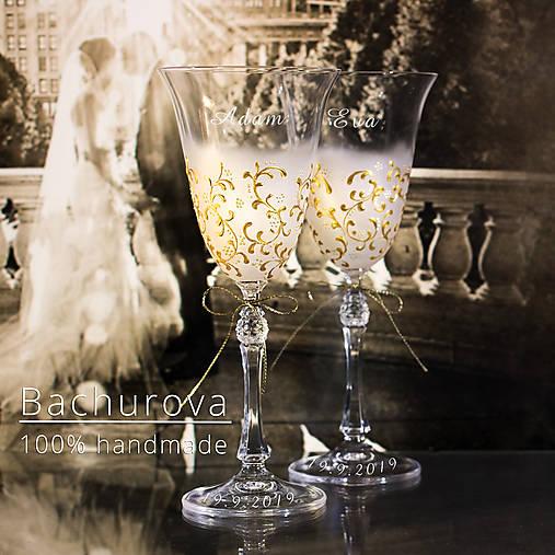 Svadobné poháre (bez pieskovanie textov)