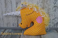 Úžitkový textil - Jednorožec v žltom - 10391982_
