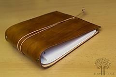 Papiernictvo - Kožený zápisník karisblok - 10390512_