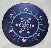 Nádoby - Drevená ručne maľovaná misa - 10390095_
