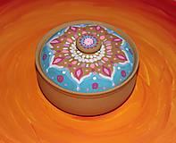 Krabičky - Maľovaná kameninová dóza - 10390166_