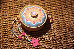 Krabičky - Maľovaná kameninová dóza - 10390177_