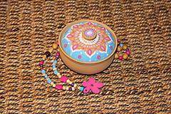 Krabičky - Maľovaná kameninová dóza - 10390182_