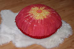 Úžitkový textil - Ručne maľovaný batikovaný meditačný vankúš - 10390530_