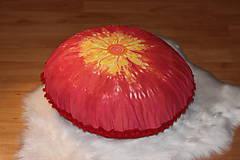 Úžitkový textil - Ručne maľovaný batikovaný meditačný vankúš - 10390575_