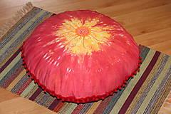 Úžitkový textil - Ručne maľovaný batikovaný meditačný vankúš - 10390577_