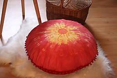 Úžitkový textil - Ručne maľovaný batikovaný meditačný vankúš - 10390593_