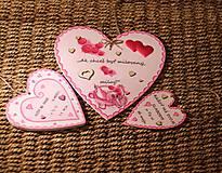 Dekorácie - Srdiečko z lásky - 10390730_