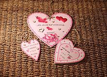 Dekorácie - Srdiečko z lásky - 10390731_