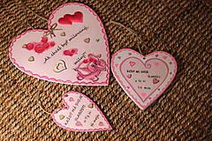 Dekorácie - Srdiečko z lásky - 10390734_