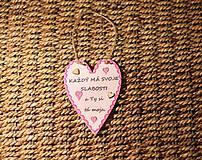 Dekorácie - Valentínske srdiečko z lásky - 10390894_