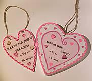 Dekorácie - Valentínske srdiečko z lásky - 10390900_