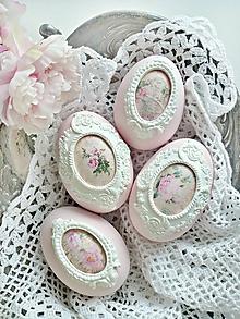 Dekorácie - Ružová záhrada sada vajíčok 8cm - 10390942_