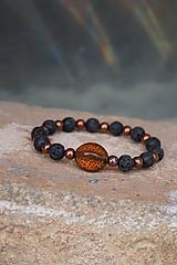 Náramky - Náramok keramicko-lávový oranžový - 10392205_