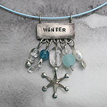 Náhrdelníky - Zima - náhrdelník - 10390393_