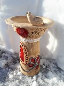 Dekorácie - Veľké keramické napájadlo pre vtáčence,alebo kvetináč na kvietky. - 10391005_