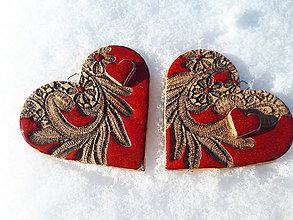 Dekorácie - Valentínske srdiečka. - 10391542_
