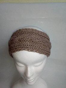 Čiapky - Hneda čelenka z  dvomi možnosťami nosenia - 10389036_