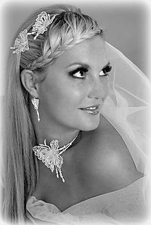 Sady šperkov - Svatební motýl souprava - 10389737_