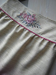Sukne - Suknička z hodvábu,maľovaná - 10388917_