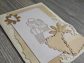 Papiernictvo - ...pohľadnica svadobná... - 10390808_