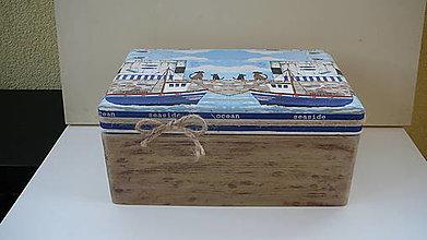 Krabičky - Truhlica s morským motívom - 10389687_