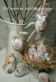 Dekorácie - Veľkonočné vajíčka - vintage - 10392453_