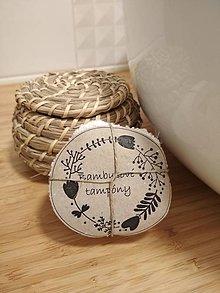 Úžitkový textil - Bez odpadu, bambusové odličovacie tampóny - 10390738_