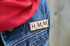 Odznaky/Brošne - Povedz to brošňou - Hmm - 10390922_