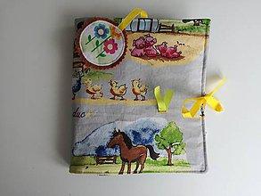 Hračky - Soft book - Na gazdovskom dvore. - 10388762_
