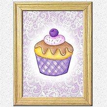 Obrázky - Koláčiky (Čučoriedkový koláčik + kárované pozadie) - 10388597_
