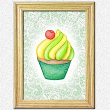 Obrázky - Koláčiky (hruškovo - vanilkový koláčik + kárované pozadie) - 10388614_