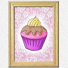 Obrázky - Koláčiky (slivkový koláčik + kárované pozadie) - 10388618_