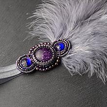 Ozdoby do vlasov - Great Gatsby Violet ... čelenka - 10396236_