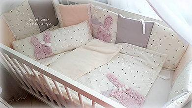 Textil - Mantinel 280x30cm pre postieľku 140x70cm - kolekcia PURE - 10396983_