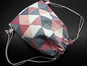 Batohy - Športový vak (štýlový asymetrický vzor) - 10393152_