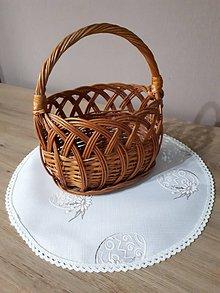 Úžitkový textil - Obrus... Easter flowers (Okrúhly obrúsok do košíka) - 10396916_