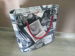 Veľké tašky - Taška s Marilin  (Sivý podklad) - 10397072_