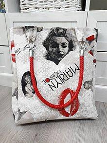 Veľké tašky - Taška s Marilin  (Režný podklad) - 10397080_