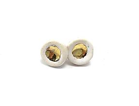 Náušnice - náušničky - keramika/zlato - 10394618_