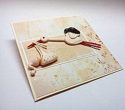 Papiernictvo - Pohľadnica ... priletí bocian - 10396644_