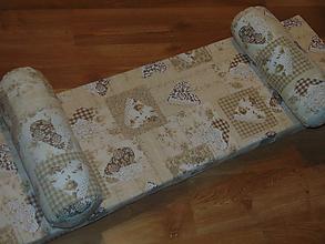 Úžitkový textil - Podsedák na lavicu a vankúše/valce - 10395417_