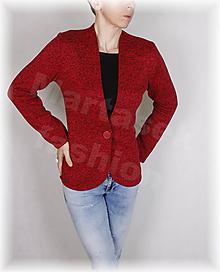 Mikiny - Kabátek hřejivá svetrovina(více barev) (Červená) - 10394023_